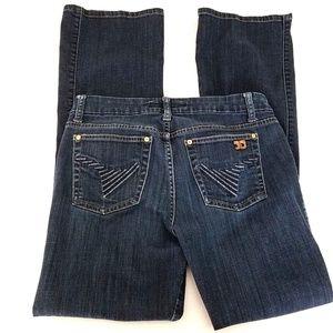 Joe's Jeans Muse 27 Dark Wash Boot Cut Mid Rise